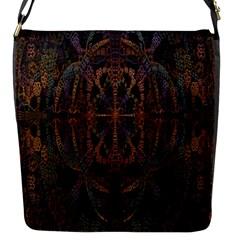 Digital Art Flap Messenger Bag (S)