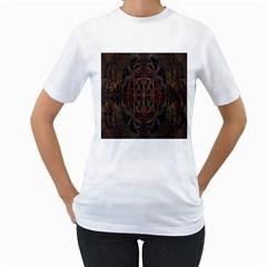 Digital Art Women s T-Shirt (White)