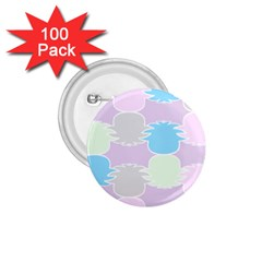 Pineapple Puffle Blue Pink Green Purple 1 75  Buttons (100 Pack)