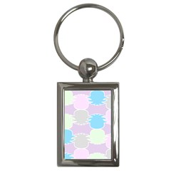 Pineapple Puffle Blue Pink Green Purple Key Chains (rectangle)