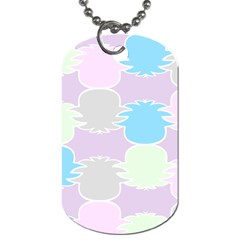 Pineapple Puffle Blue Pink Green Purple Dog Tag (one Side)