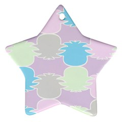 Pineapple Puffle Blue Pink Green Purple Star Ornament (two Sides)
