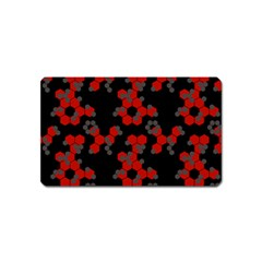 Red Digital Camo Wallpaper Red Camouflage Magnet (name Card)