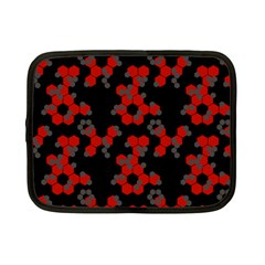 Red Digital Camo Wallpaper Red Camouflage Netbook Case (small)