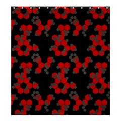Red Digital Camo Wallpaper Red Camouflage Shower Curtain 66  X 72  (large)