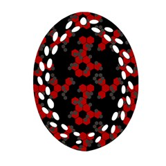 Red Digital Camo Wallpaper Red Camouflage Ornament (oval Filigree)