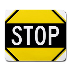 Road Sign Stop Large Mousepads