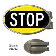 Road Sign Stop Money Clips (oval)