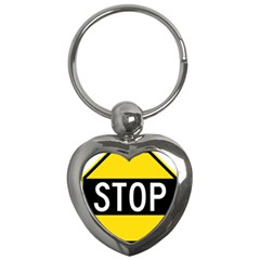 Road Sign Stop Key Chains (heart)