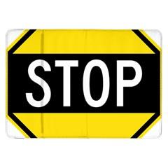 Road Sign Stop Samsung Galaxy Tab 8 9  P7300 Flip Case