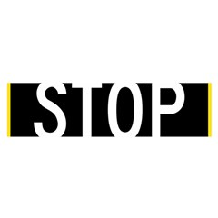 Road Sign Stop Satin Scarf (oblong)