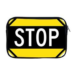 Road Sign Stop Apple Macbook Pro 17  Zipper Case