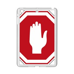 Road Sign Stop Hand Finger Ipad Mini 2 Enamel Coated Cases