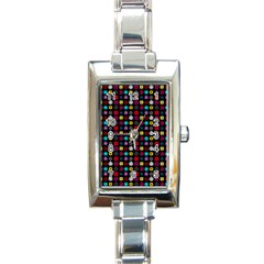 N Pattern Holiday Gift Star Snow Rectangle Italian Charm Watch