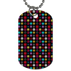 N Pattern Holiday Gift Star Snow Dog Tag (one Side)