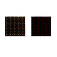 N Pattern Holiday Gift Star Snow Cufflinks (square)