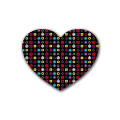 N Pattern Holiday Gift Star Snow Rubber Coaster (heart)