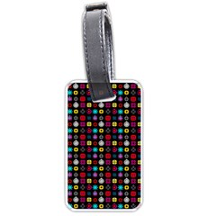N Pattern Holiday Gift Star Snow Luggage Tags (one Side)