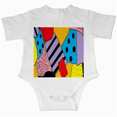 Sally s Patchwork Pattern Infant Creepers