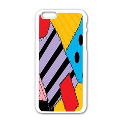Sally s Patchwork Pattern Apple Iphone 6/6s White Enamel Case