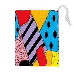 Sally s Patchwork Pattern Drawstring Pouches (extra Large)