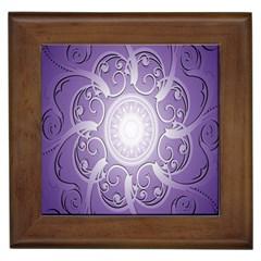 Purple Background With Artwork Framed Tiles