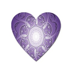 Purple Background With Artwork Heart Magnet