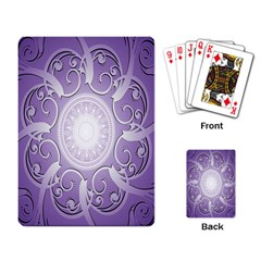 Purple Background With Artwork Playing Card