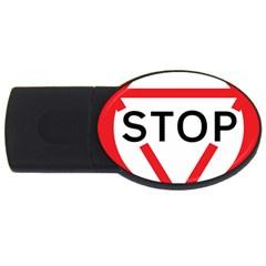 Stop Sign Usb Flash Drive Oval (4 Gb)