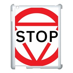 Stop Sign Apple Ipad 3/4 Case (white)