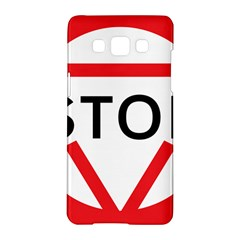 Stop Sign Samsung Galaxy A5 Hardshell Case