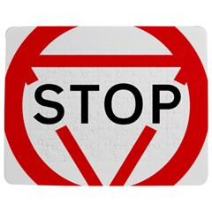 Stop Sign Jigsaw Puzzle Photo Stand (rectangular)