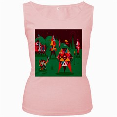 Studio Crafts Unique Visual  Projects Women s Pink Tank Top