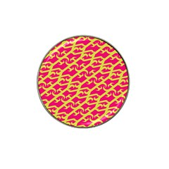 Typeface Variety Postcards Unique Illustration Yellow Red Hat Clip Ball Marker (10 Pack)