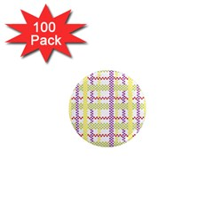 Webbing Plaid Color 1  Mini Magnets (100 Pack)