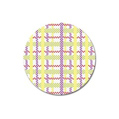 Webbing Plaid Color Magnet 3  (round)