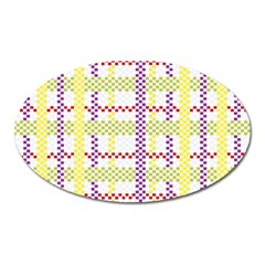 Webbing Plaid Color Oval Magnet