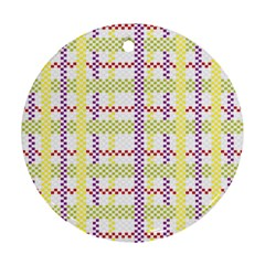 Webbing Plaid Color Round Ornament (two Sides)