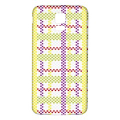 Webbing Plaid Color Samsung Galaxy S5 Back Case (white)