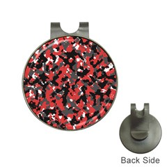 Spot Camuflase Red Black Hat Clips With Golf Markers