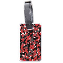 Spot Camuflase Red Black Luggage Tags (one Side)