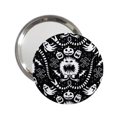 Wrapping Paper Nightmare Monster Sinister Helloween Ghost 2 25  Handbag Mirrors