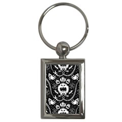 Wrapping Paper Nightmare Monster Sinister Helloween Ghost Key Chains (rectangle)