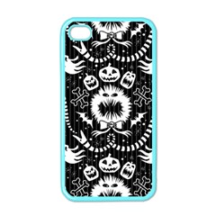 Wrapping Paper Nightmare Monster Sinister Helloween Ghost Apple Iphone 4 Case (color)