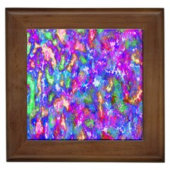Abstract Trippy Bright Sky Space Framed Tiles