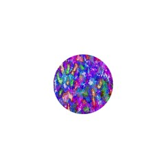Abstract Trippy Bright Sky Space 1  Mini Buttons