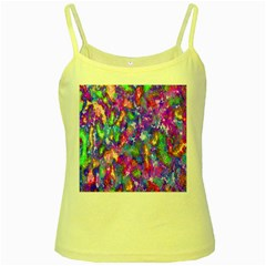 Abstract Trippy Bright Sky Space Yellow Spaghetti Tank
