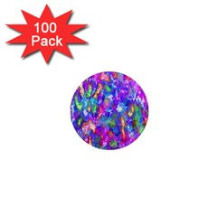 Abstract Trippy Bright Sky Space 1  Mini Magnets (100 Pack)