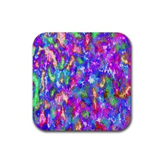 Abstract Trippy Bright Sky Space Rubber Square Coaster (4 pack)
