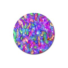 Abstract Trippy Bright Sky Space Magnet 3  (round)